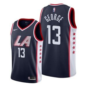 Los Angeles Clippers Paul George Navy Jersey